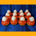 12 Candy Corn Conehead Rubber Ducks