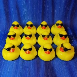 12 Mini Cool Emoji Rubber Duck
