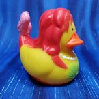 Mermaid Rubber Duck Red