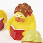 Reading Romance Books Rubber Duck