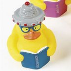 Reading Science Fiction Books UFO Rubber Duck