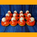 12 Candy Corn Rubber Ducks