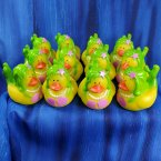 12 Mermaid Rubber Ducks Pink and Green