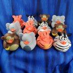 Fun Pack! 12 Assorted Safari Animal Rubber Ducks