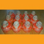 12 Glow in the Dark Skeleton Neon Orange Rubber Ducks