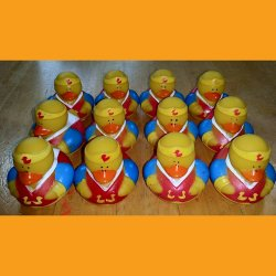 12 Super Hero Wonder Robin Rubber Ducks