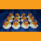 12 Girl Pirate Rubber Ducks Purple Bandana