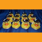 12 Captain Girl Pirate Rubber Ducks Feathered Cap