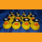 12 Captain with Skull and Cross Bones Pirate Rubber Ducks