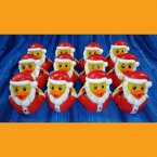 12 Santa Rubber Ducks