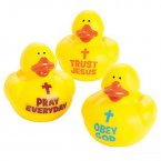 Trust Jesus, Obey God, Pray Everyday Rubber Ducks