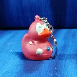 Iron Metal Man Rubber Duck Key Chain