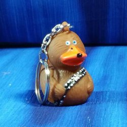 Furry Space Hero Rubber Duck Key Chain