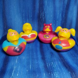 Super Hero Girl Rubber Duckies