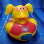 Super Hero Dyno Girl Rubber Duck