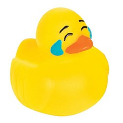 Mini Sad Emoji Rubber Duck