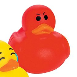 Mini Angry Emoji Rubber Duck