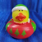 Christmas Ugly Sweater Short Duck Green Floppy Stocking Cap