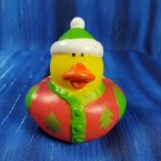Christmas Ugly Sweater Short Rubber Duck Green Stocking Cap