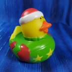 Christmas Ugly Sweater Short Rubber Duck Red Floppy Stocking Cap