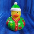 Christmas Ugly Sweater Rubber Duck Green Stocking Cap