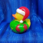 Christmas Elf Rubber Duck Red Floppy Stocking Cap