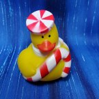 Foody Christmas Rubber Duck with Peppermint Candy Cane