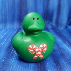 Green Candy Cane Christmas Rubber Duck