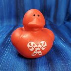 Red Candy Cane Christmas Rubber Duck