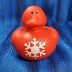 Red Snowflake Christmas Rubber Duck