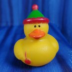 Party Rubber Duck in Green with Pink