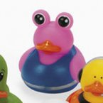 Pink Alien Rubber Duck