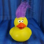 Crazy Hair Rubber Duck - Yellow Duck
