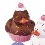Chocolate Cupcake Sweet Treats Rubber Duck