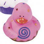 Pink Strawberry Swirl Sweet Treats Rubber Duck