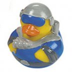 Space Explorer Rubber Duck in Blue Uniform
