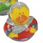 Space Explorer Rubber Duck in Red Uniform