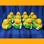 12 Soccer Rubber Duck - Green and White