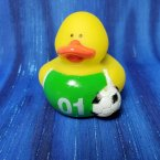 Soccer Rubber Duck - Green and White