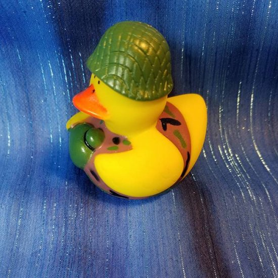 US Military Field Cookie Camouflage Rubber Duck - Click Image to Close