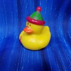 Party Rubber Duck in Green and Pink