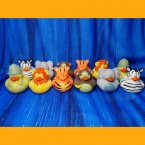Fun Pack! 12 Assorted Safari Rubber Ducks