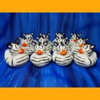 12 Zebra Rubber Ducks
