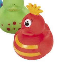 Red Monster Rubber Duck