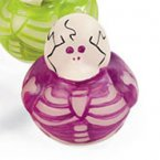 Glow-in-the-Dark Skeleton Fuchsia Rubber Duck
