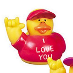 I Love You Red Rubber Duck
