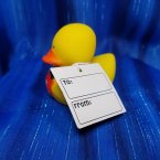 Valentine's Be Mine Boy Rubber Duck with Card