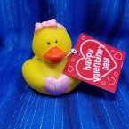 Valentine's Be Mine Pink Girl with Card Rubber Duck