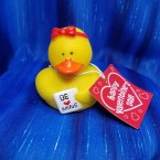Valentine's Be Mine Card Girl with Card Rubber Duck