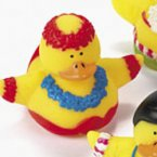 Hula Dancing Rubber Duck Boy in Red